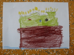 Oliver Pötzsch Lesung - Arbeiten der Kinder in den Klassen 1