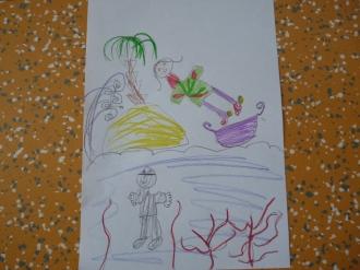 Oliver Pötzsch Lesung - Arbeiten der Kinder in den Klassen 3