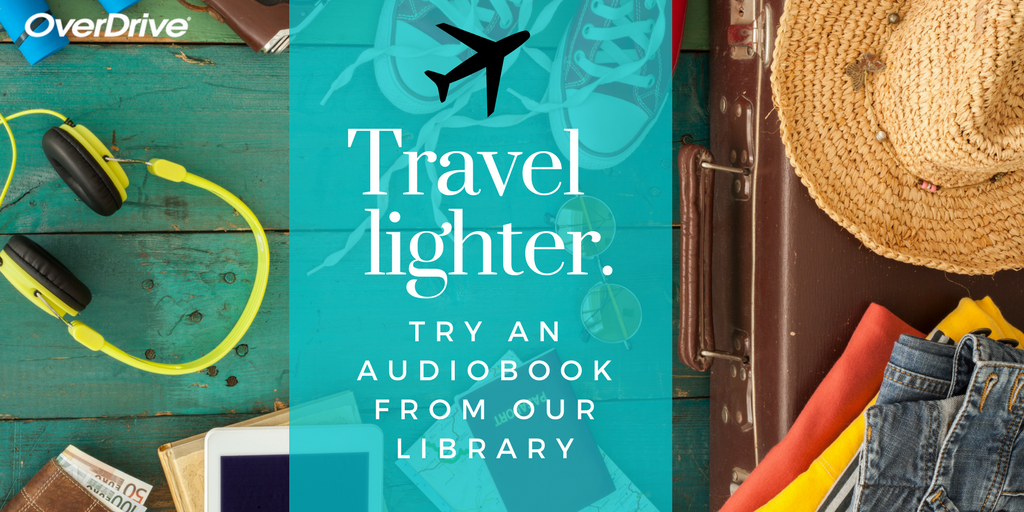 Travel lighter with audiobooks